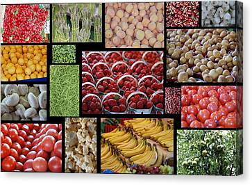 Fruits Mosaic Canvas Print
