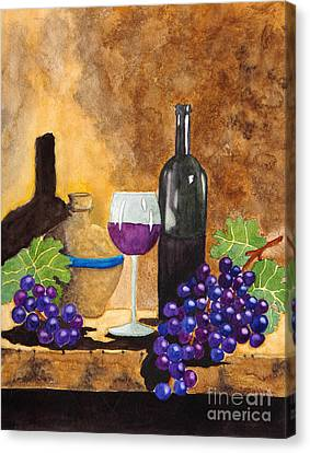 Fruits Of The Vine Canvas Print by Kimberlee Weisker