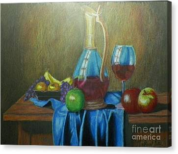 Fruity Still Life Canvas Print by Mickael Bruce