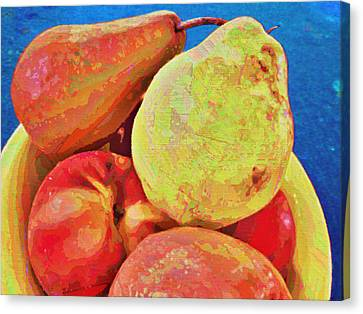 Canvas Print featuring the digital art Frutbol by Ginny Schmidt