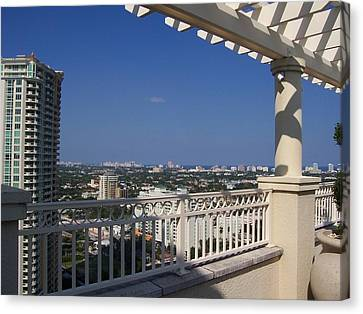 Canvas Print featuring the photograph Ft. Lauderdale by Sheila Silverstein