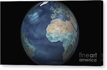 Full Earth Showing Evaporation Canvas Print by Stocktrek Images