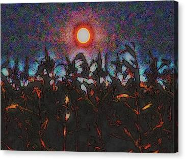 Full Harvest Moon Iowa Canvas Print