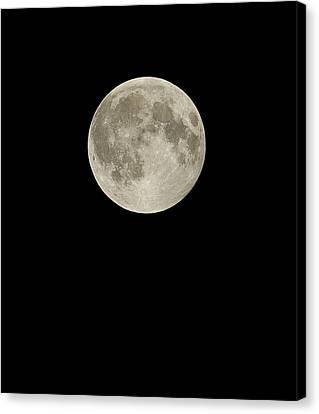 Sea Moon Full Moon Canvas Print - Full Moon by Eckhard Slawik