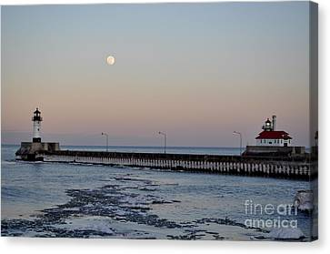 Full Moon Ice Canvas Print by Whispering Feather Gallery