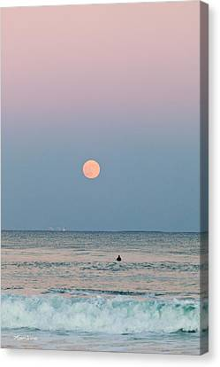 Full Moon In Taurus October 29 2012 Canvas Print by Michelle Wiarda