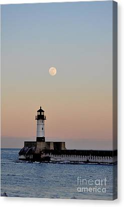 Full Moon Light Canvas Print by Whispering Feather Gallery