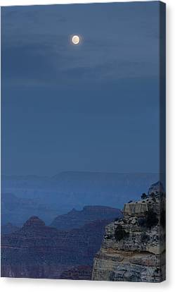 Full Moon Over Grand Canyon Canvas Print by Don Smith