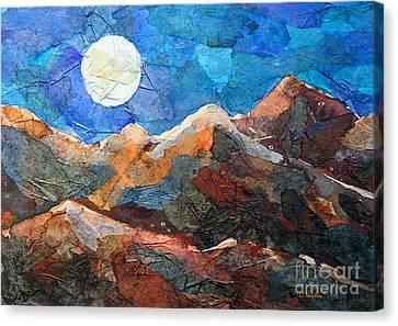 Full Moon Over The Sierras Canvas Print by Li Newton