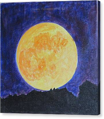 Canvas Print featuring the painting Full Moon by Sonali Gangane