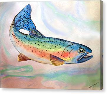 Full On Trout Canvas Print