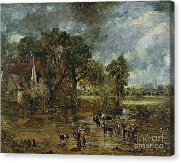Full Scale Study For 'the Hay Wain' Canvas Print by John Constable