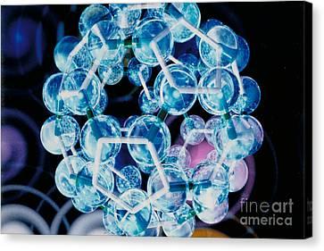 Buckminster Fuller Canvas Print - Fullerene Molecule Of Carbon by DOE/Science Source
