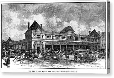 Fulton Fish Market, 1882 Canvas Print by Granger