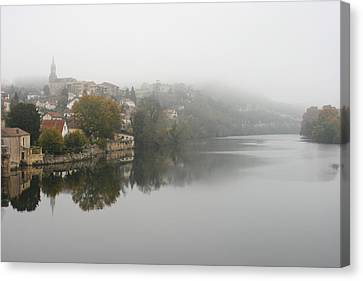 Fumel On A Misty Day Canvas Print