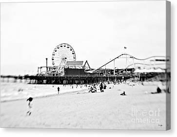 Fun At The Beach Canvas Print by Scott Pellegrin
