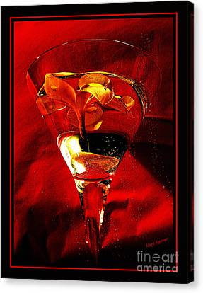 Fun In A Glass Canvas Print by Kaye Menner