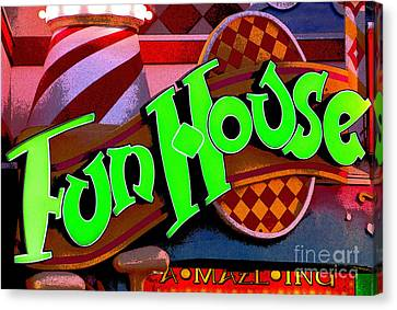 Funhouse Canvas Print by Colleen Kammerer