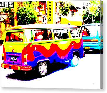 Funky Bali Bus  Canvas Print by Funkpix Photo Hunter
