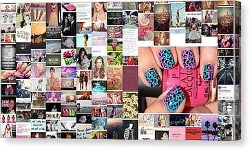 Funky Nails Canvas Print