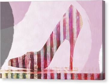 Funky Shoe Canvas Print by David Ridley