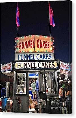 Funnel Cakes Canvas Print by Joan Meyland