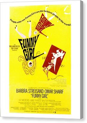 Funny Girl, Barbra Streisand, Omar Canvas Print