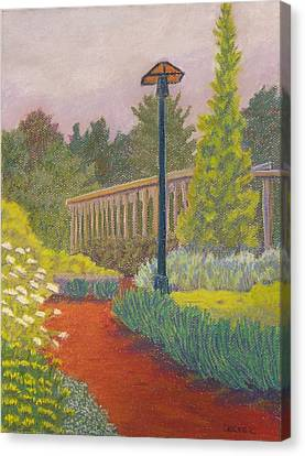 Canvas Print featuring the painting Furman University Cliffs Cottage by Robert Decker