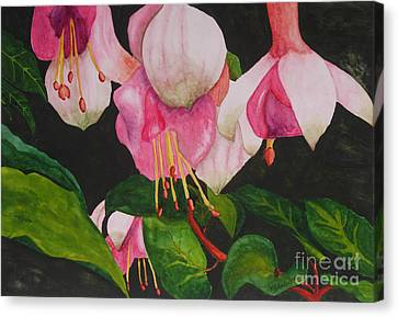 Leaves Canvas Print - Fuschia Pink Passion by Kimberlee Weisker