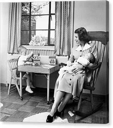 Future First Lady In 1952.  Betty Ford Canvas Print by Everett