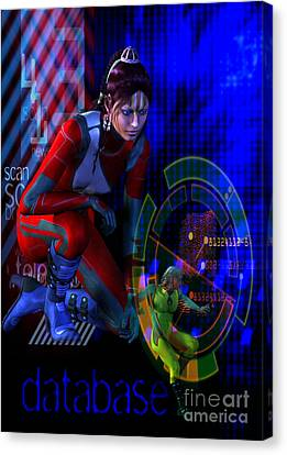 Canvas Print featuring the digital art Future Tribal by Shadowlea Is