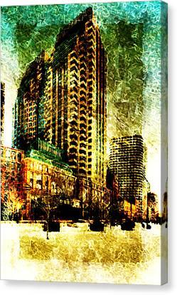 Canvas Print featuring the digital art Futurecraper by Andrea Barbieri