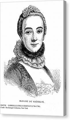 Decolletage Canvas Print - Gabrielle-emilie Chatelet by Granger