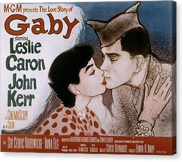 Gaby, Leslie Caron, John Kerr, 1956 Canvas Print by Everett