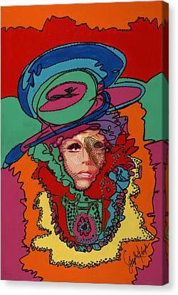 Gaga To The Max Canvas Print by Stapler-Kozek