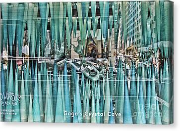 Gaga's Crystal Cave Canvas Print by Chuck Kuhn