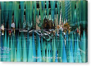 Gaga's Crystal Cave Iv Canvas Print by Chuck Kuhn