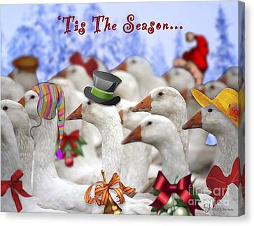 Gaggle O' Greetings Canvas Print
