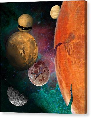 Galactic Junkyard Canvas Print