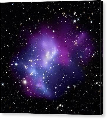 Galaxy Cluster Macs J0717 Canvas Print by Nasacxcstscima Et Al