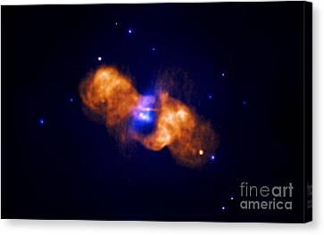 Galaxy Collision Canvas Print by Nasa