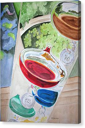 Canvas Print featuring the painting Galileo Thermometer by Mary Kay Holladay