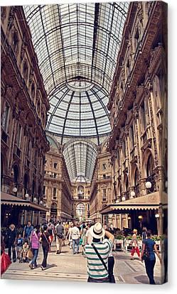 Galleria Vittorio Emanuele Canvas Print by Benjamin Matthijs