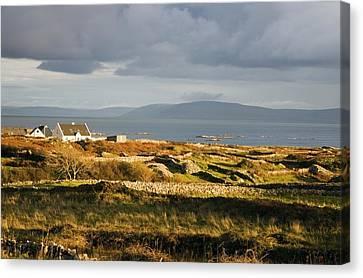 Galway Bay, Co Galway, Ireland Bay Near Canvas Print