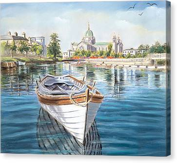 Galway Cathedral View  Canvas Print by Vanda Luddy
