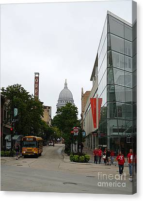 Game Day In Madison Canvas Print by David Bearden