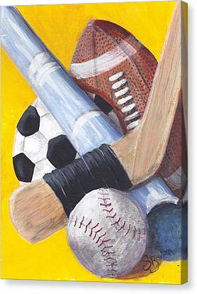 Game On Canvas Print by Susan Bruner