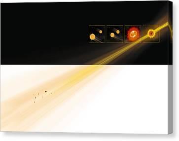 Gamma Ray Burst Formation Canvas Print by Claus Lunau