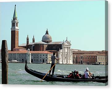 Gandola Rides In Venice Canvas Print