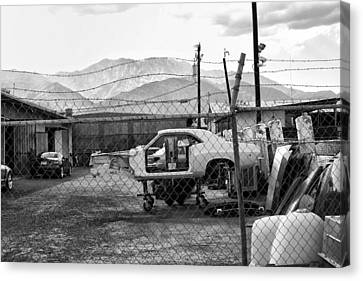 Garage Days Bw Canvas Print by William Dey